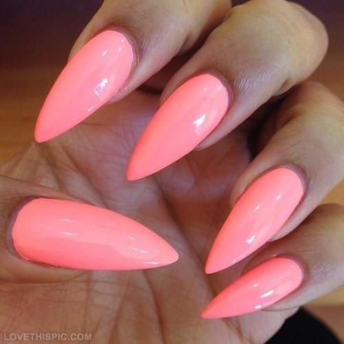 almond stiletto nails photo - 2