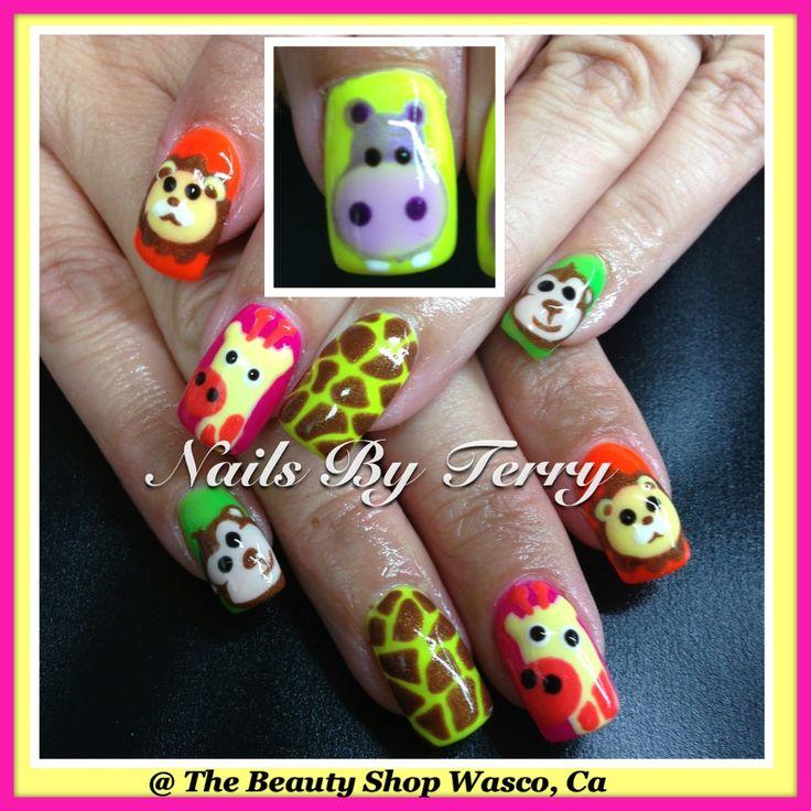 animal gel nails photo - 2
