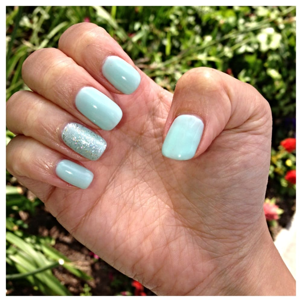 aqua gel nails photo - 1