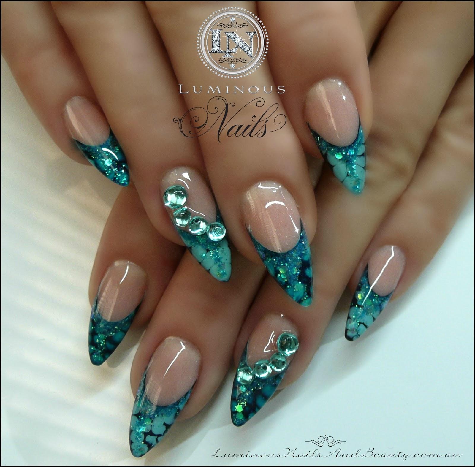 aqua gel nails photo - 2