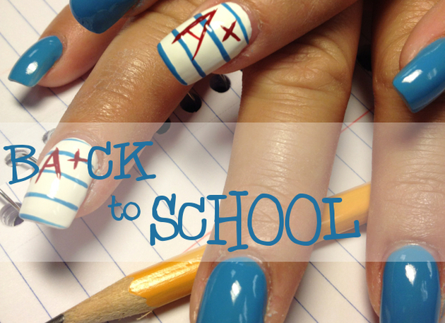Back to school acrylic nails - Expression Nails
