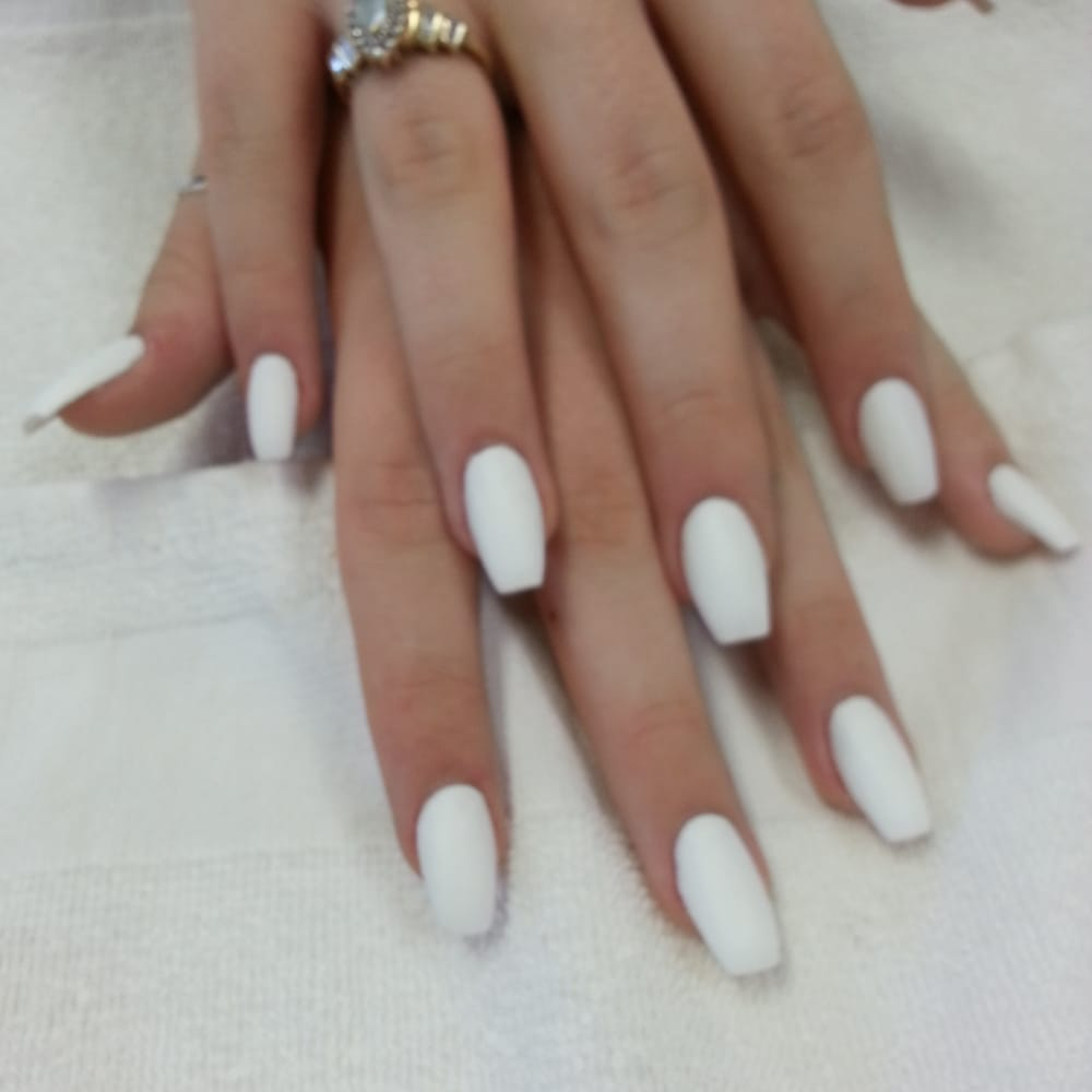 ballerina coffin nails matte photo - 2