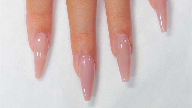 ballerina shaped acrylic nails photo - 1