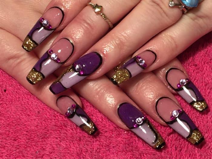 ballerina shaped acrylic nails photo - 2