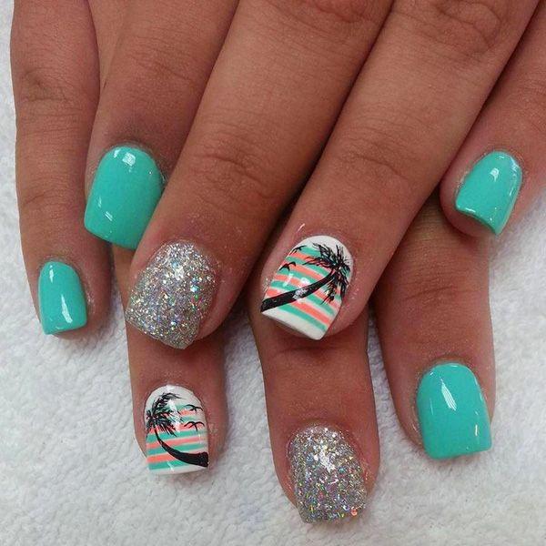 beach gel nails photo - 2