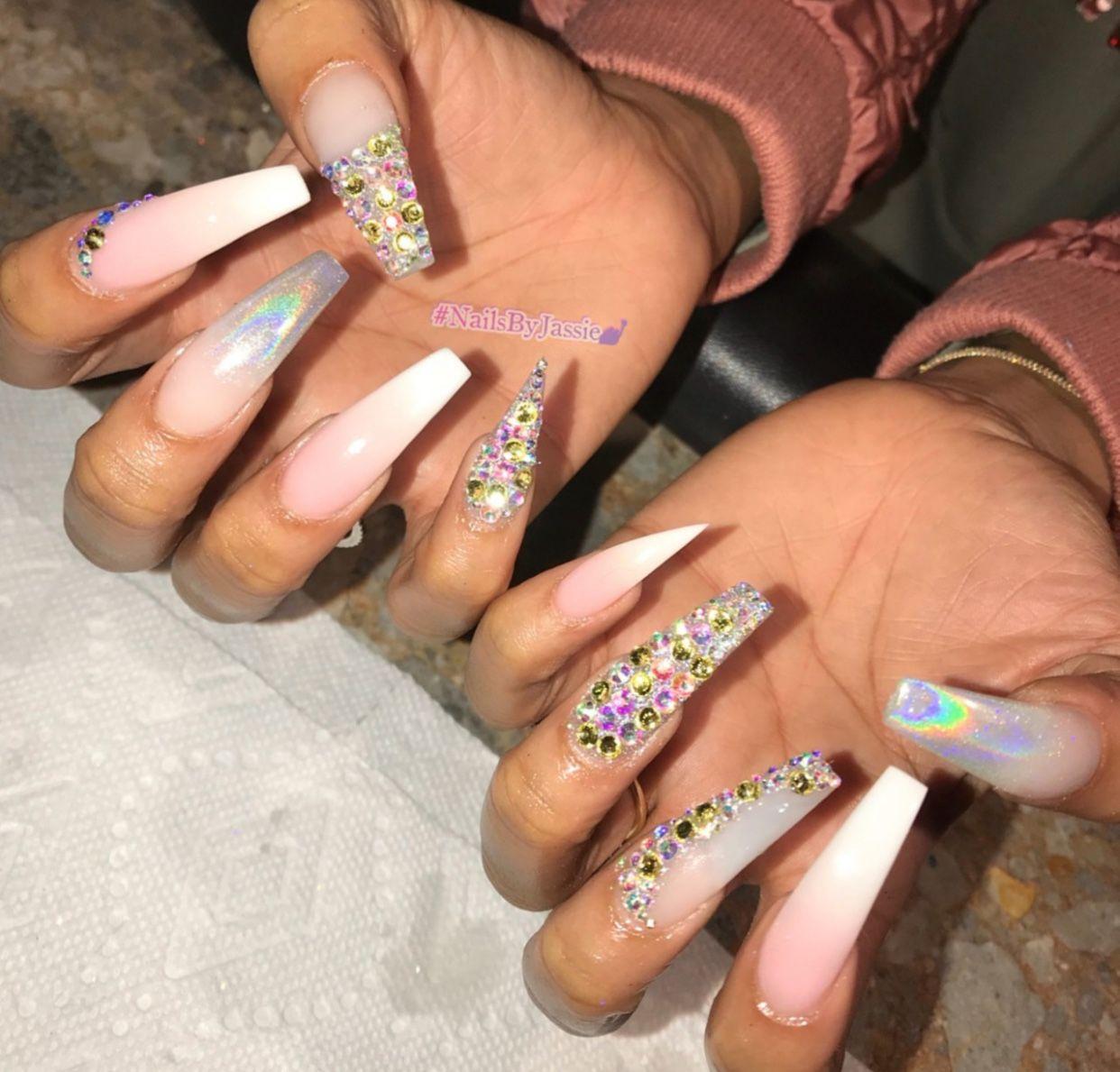 birthday stiletto nails short photo - 2