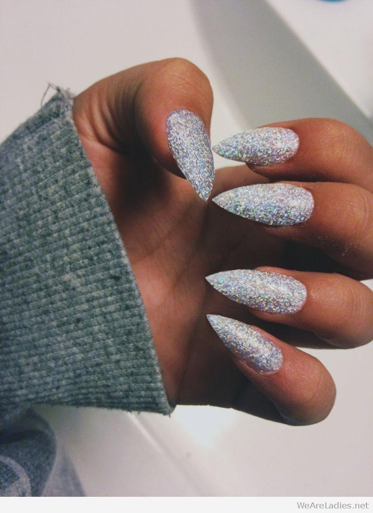 black and purple stiletto nails photo - 1