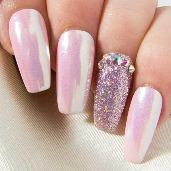 black and purple stiletto nails photo - 2