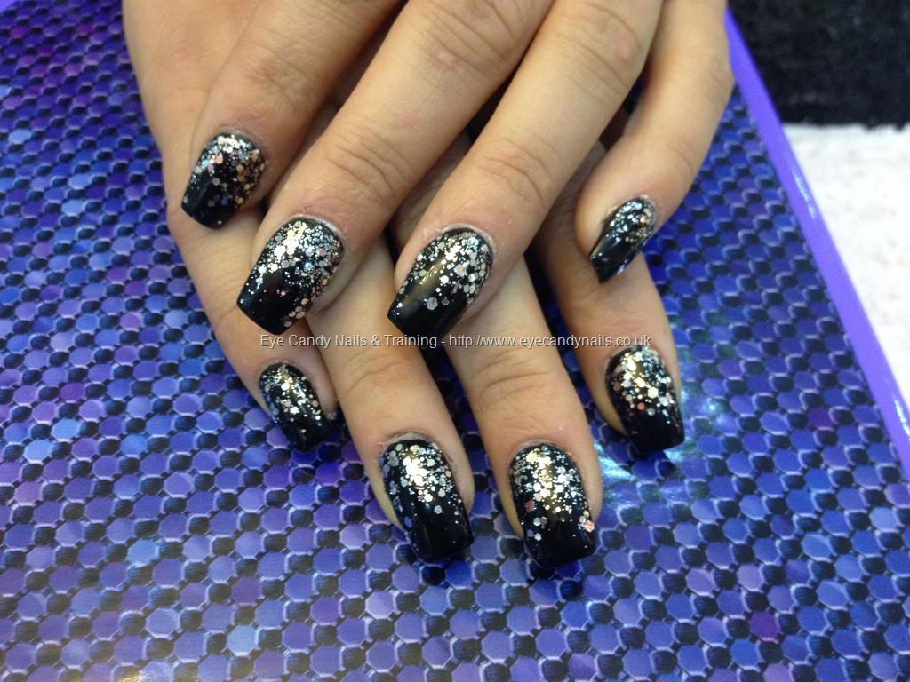 Black glitter gel nails - Expression Nails