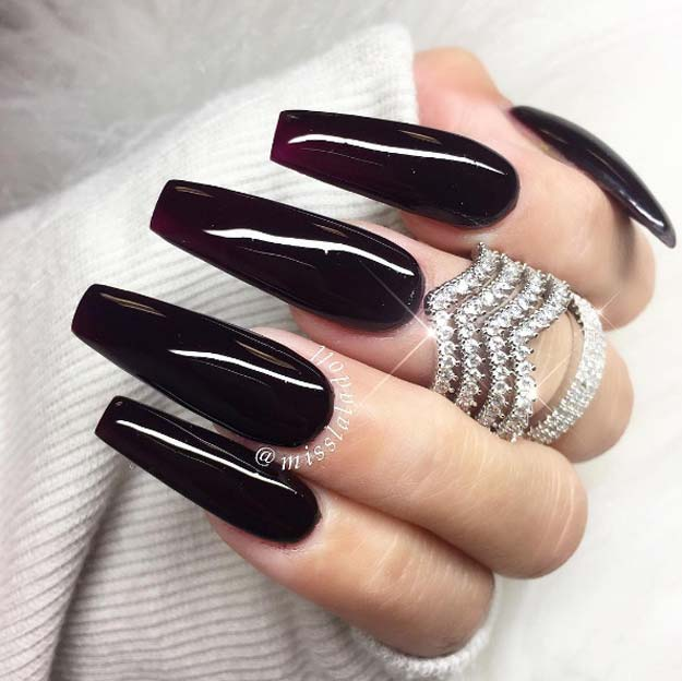 black long coffin nails photo - 2