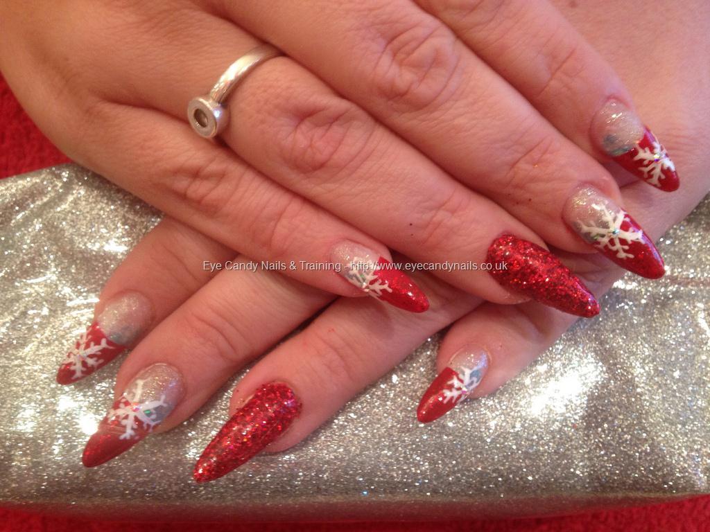 Christmas Stiletto Nails.Black Stiletto Christmas Nails New Expression Nails