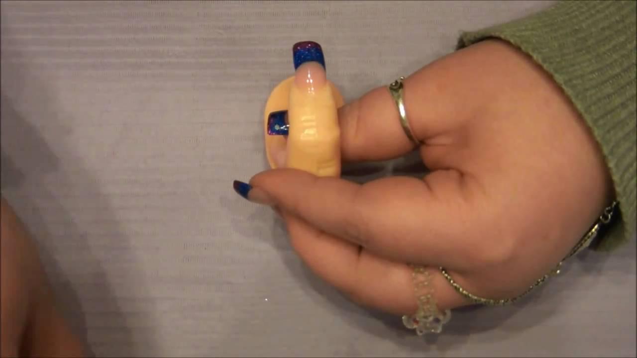 blue and purple acrylic nails photo - 2