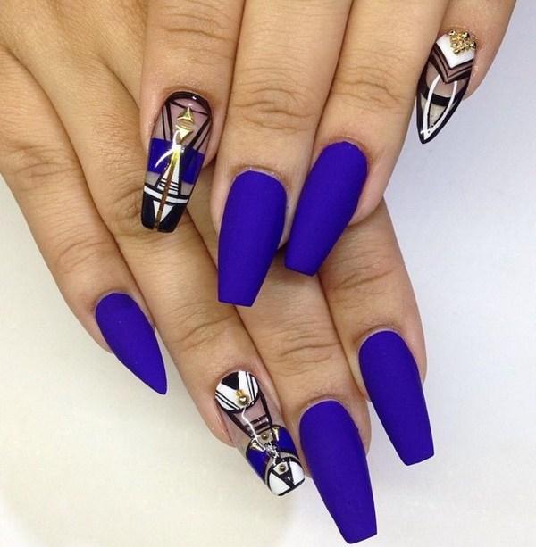 blue coffin beautiful nails photo - 1