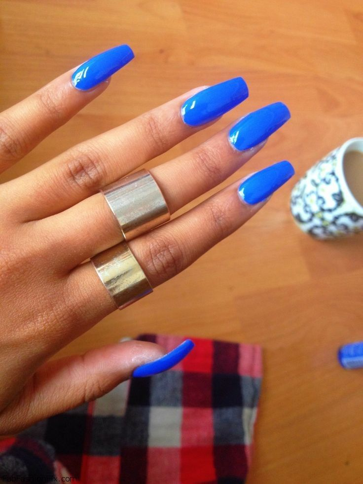 blue coffin nails photo - 1