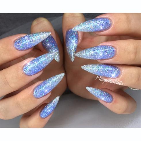 blue glitter stiletto nails photo - 1