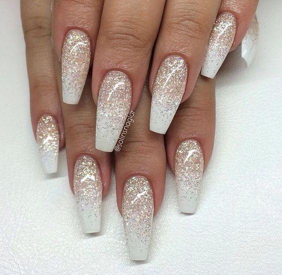 blush white acrylic nails photo - 2