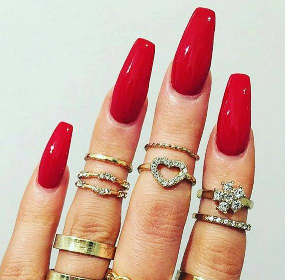 brigt red coffin nails photo - 1