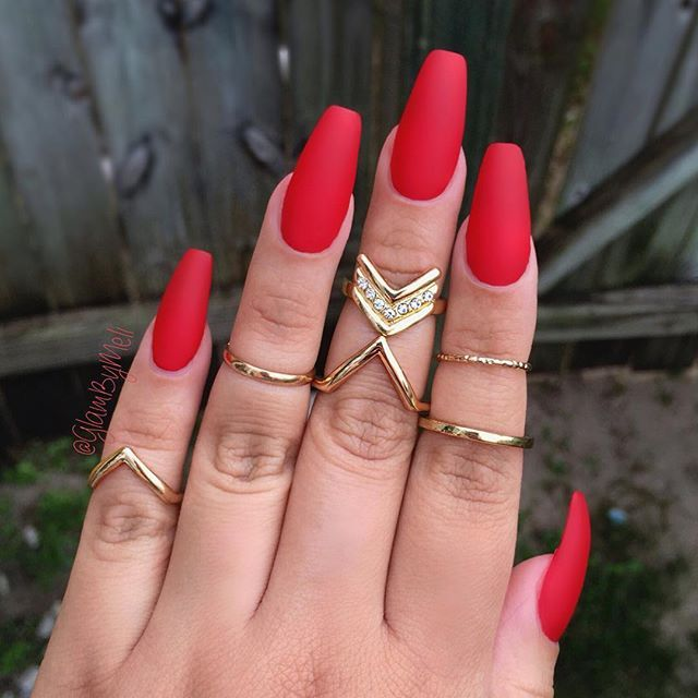brigt red coffin nails photo - 2