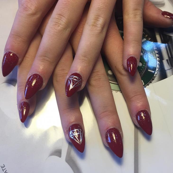 brown acrylic nails photo - 1