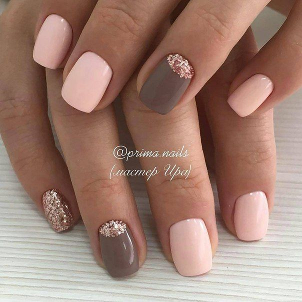 brown gel nails photo - 2