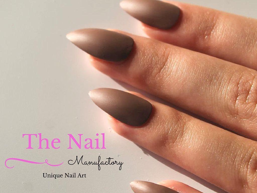 brown stiletto nails photo - 2