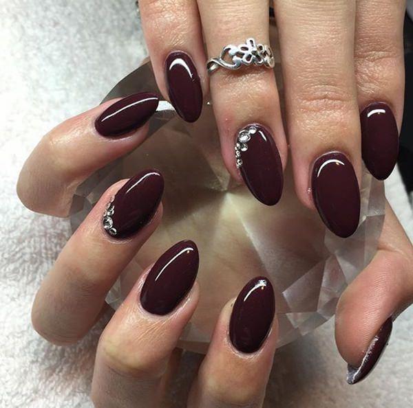 Burgundy gel nails - Expression Nails