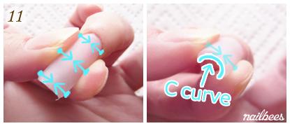 c curve acrylic nails photo - 2