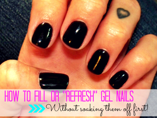 can gel nails be filled photo - 2