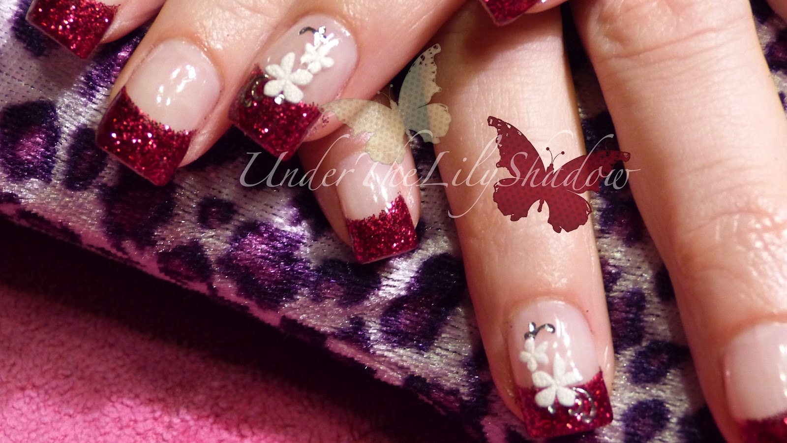 cherry red gel nails photo - 1