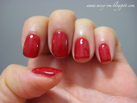 cherry red gel nails photo - 2