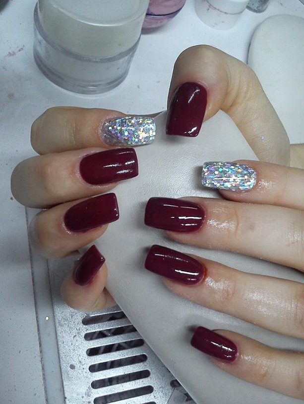 christmas and new years acrylic nails photo - 2