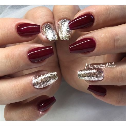 christmas coffin nails designs photo - 2