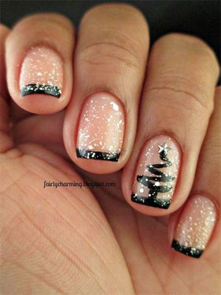 christmas gel nails photo - 2