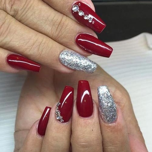 christmas long acrylic nails photo - 1