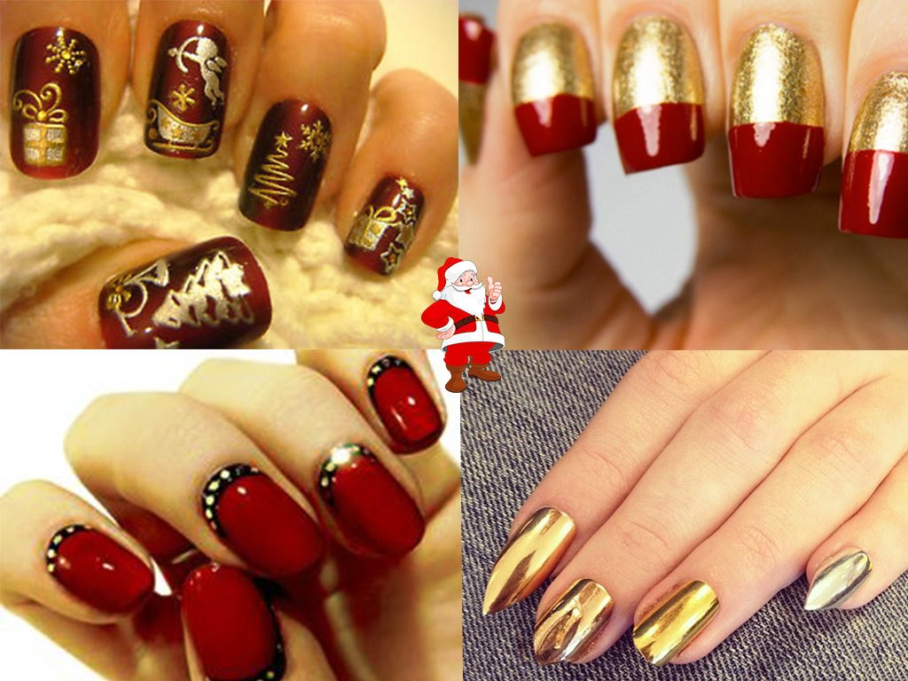 christmas nails acrylic photo - 1