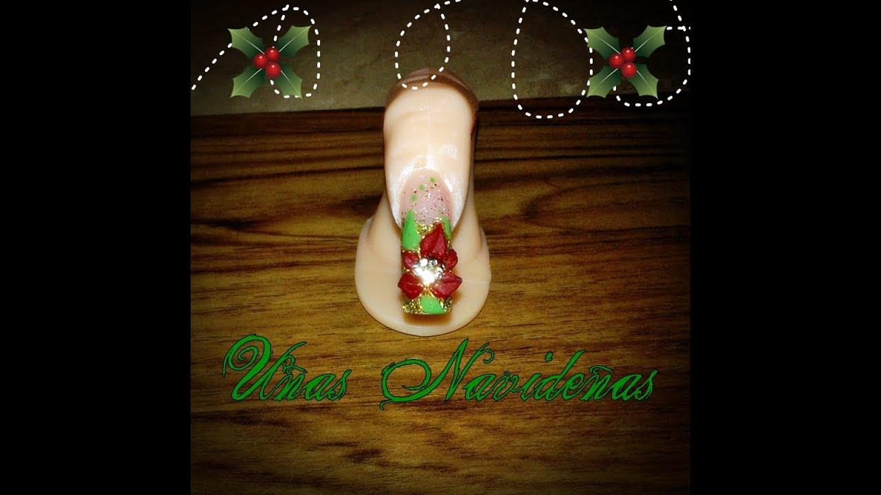 christmas nails acrylic photo - 2