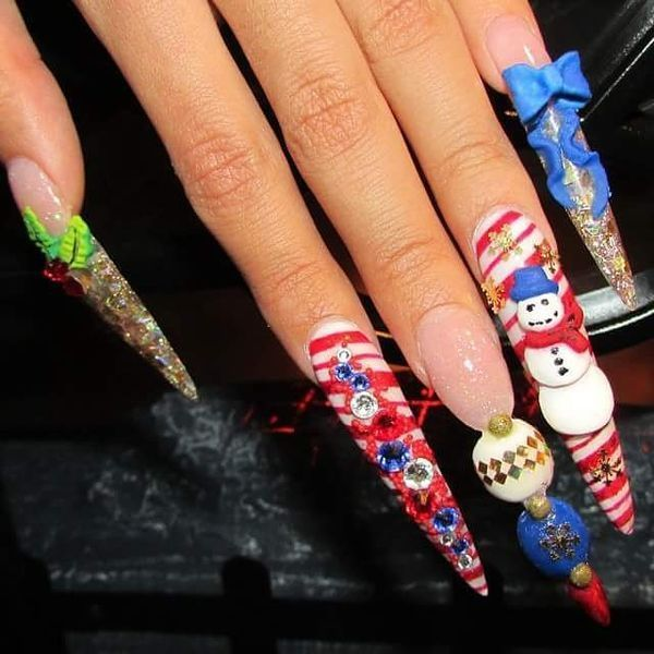 Christmas Stiletto Nails.Christmas Stiletto Nails New Expression Nails