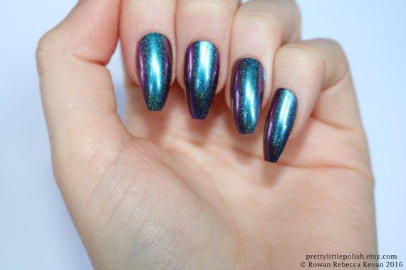 chrome coffin nails photo - 2