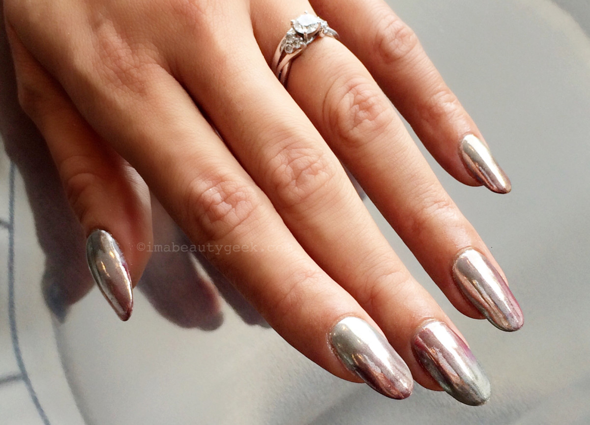 Chrome gel nails - Expression Nails