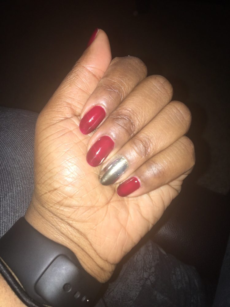 chrome gel nails nyc photo - 1