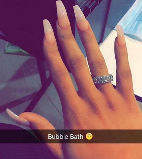 clear coffin shaped nails photo - 1