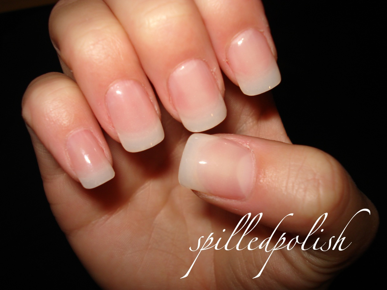 clear gel nails photo - 2