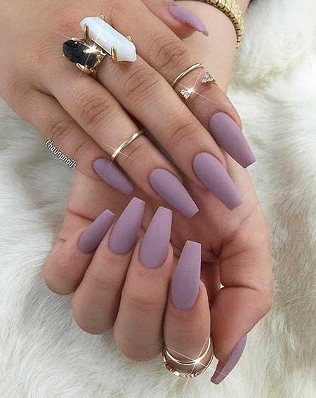Clear matte coffin nails - Expression Nails