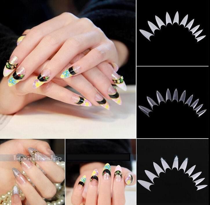 clear stiletto false nails photo - 2