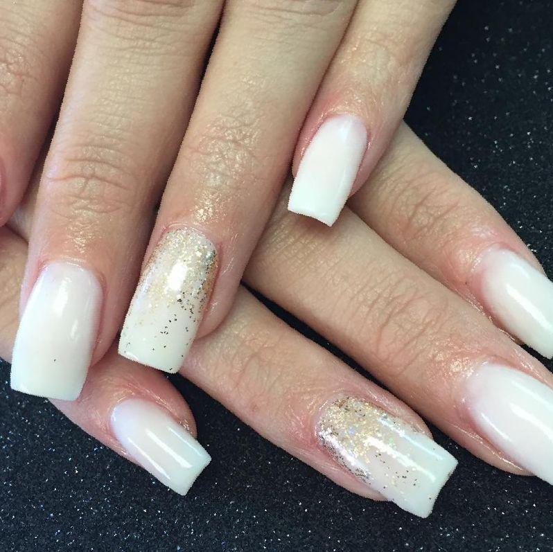 clear tips acrylic nails photo - 1