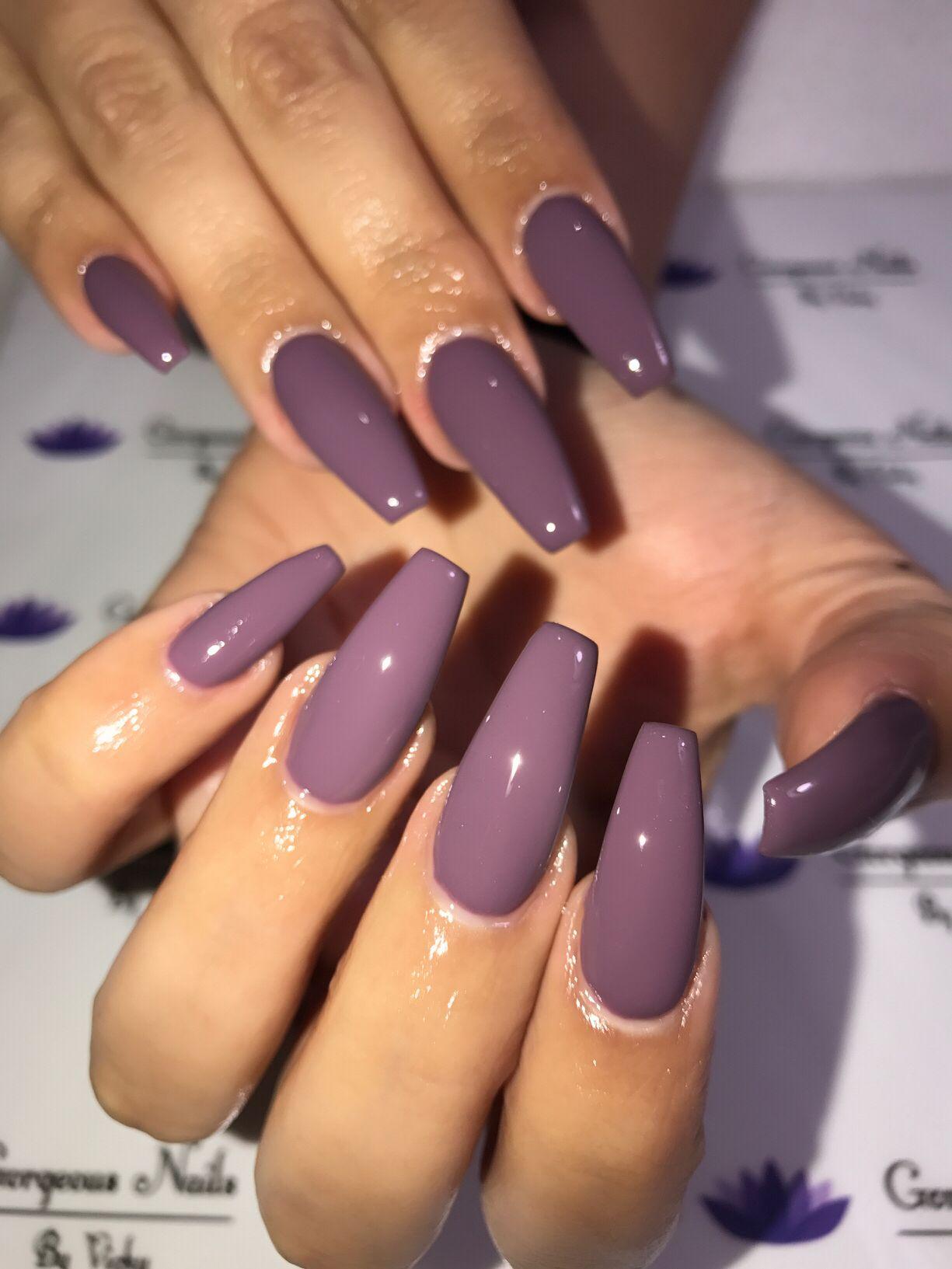 coffin acrylic nails photo - 2