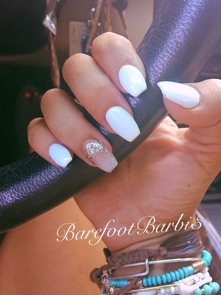 coffin acrylic nails cute photo - 1