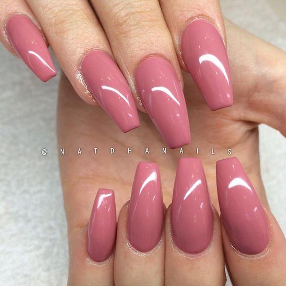 coffin acrylic nails cute photo - 2
