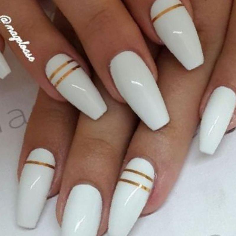 Coffin Acrylic Nails Designs Photo