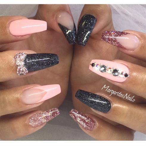 Coffin ballerina nails - Expression Nails